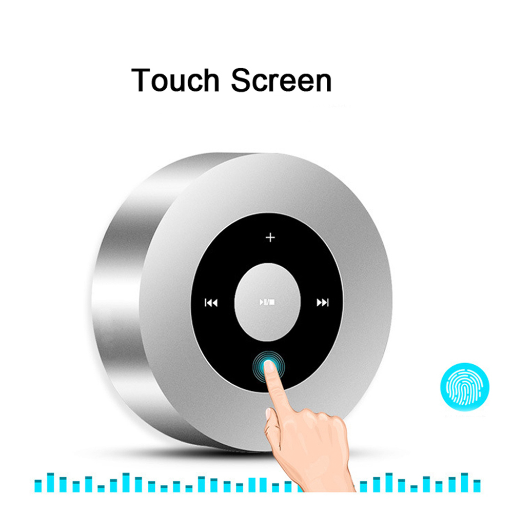 Touch Lamp Portable Speaker A8 Metal Case Music Mini Speaker With Bluetooth Support Handsfree Call TF Card