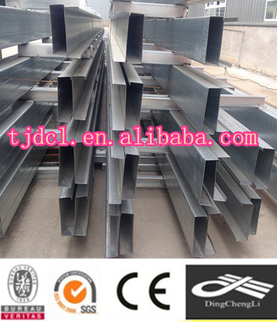 2015 factory supplier galvanized C channel,MS C channel for solar system bracket
