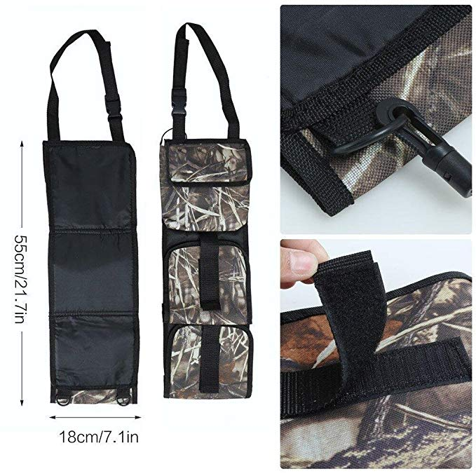 Front Seat Storage Gun Sling Bag Car Seat Back Gun Rifle Rack Case Hunting Holsters Pistols Organizer with Pockets