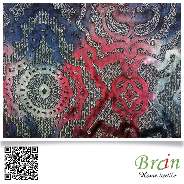 China wholesale red cotton velvet fabric