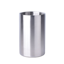 Ice Bucket Stainless Steel Double Wall Ice Bucket Wine Ice Bucket