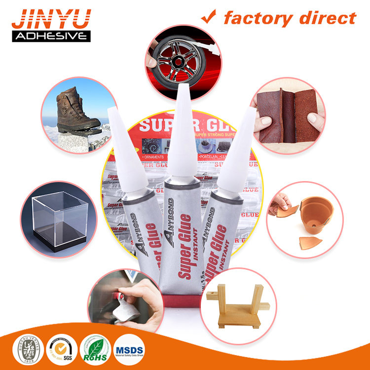 JY 3 seconds quick dry 502 Transparent strong Acrylic rubber glass ceramic metal wood cyanoacrylate adhesive remove super glue