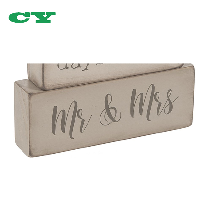 Rustic 6 Piece Wooden Block Wedding Day Countdown Calendar
