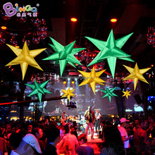 LED lighted inflatable star for decoration inflatable star with color changing LED light
