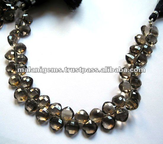 Smoky Quartz Cushion Facet Beads Calibrated size