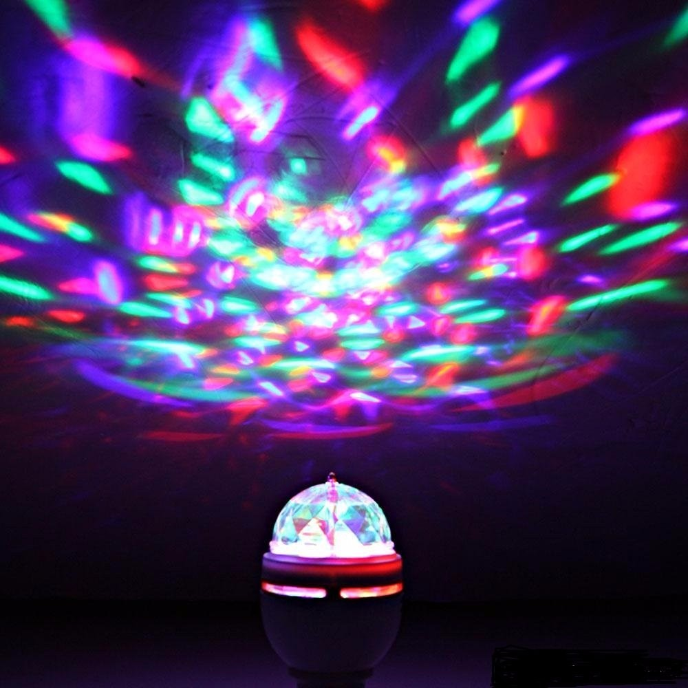 Rotating Strobe Bulb Multi changing Color LED Crystal Magic Ball Light For Stage Disco Bar Club KTV Home Party Lighting