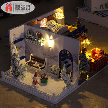 Miniature dolls house mini wooden house furniture for kid