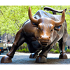 plush decoration life size bronze wall street bull statue for sale
