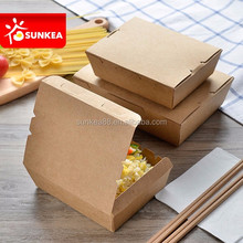 Compostable biodegradable takeaway brown paper fast food packaging