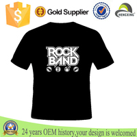 Custom black girls Rock Band T Shirt for men