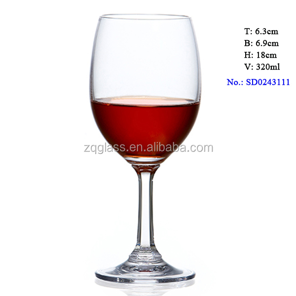 320ml 11oz Spot Prompt Goods Machinemade Machine-made Machine Blown Standard Lead Free Crystal Red Wine Glass Cup Glasses