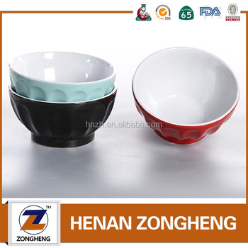 Chinese cheap stock housewares fluted ceramic bowls