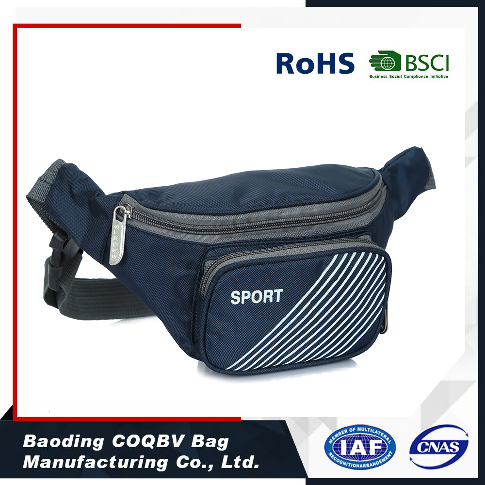 2016 New Polyester small sports bag travel money belt waist bag