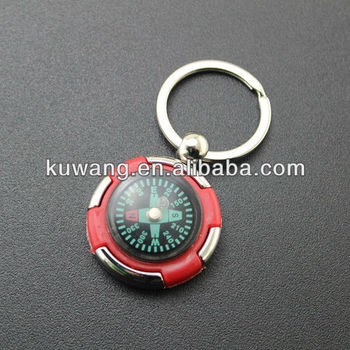 Fashion Metal Compass Keychain