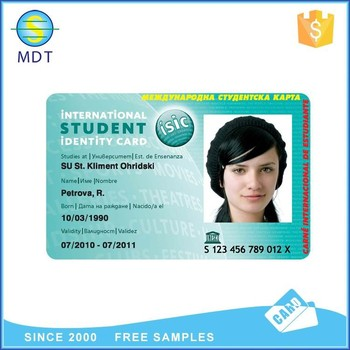 CMYK printing plastic photo school id card emplyee card factory price