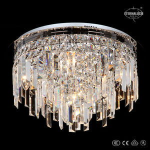 Modern led round clear crystal ceiling lights lamp fixture ETL60147