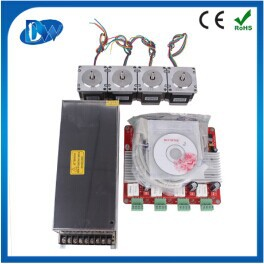 nema23 motor and 4 axis TB6560 3.5A CNC engraving machine stepper motor driver board 16 segments stepper motor controller