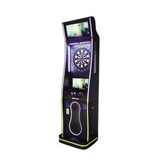 Arcade coin operated soft dart game machine VS archery case cheap bar darts machine