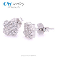 DIY Fashion New Design Solid 925 Sterling Silver Clip Earring Designer Silver Earring