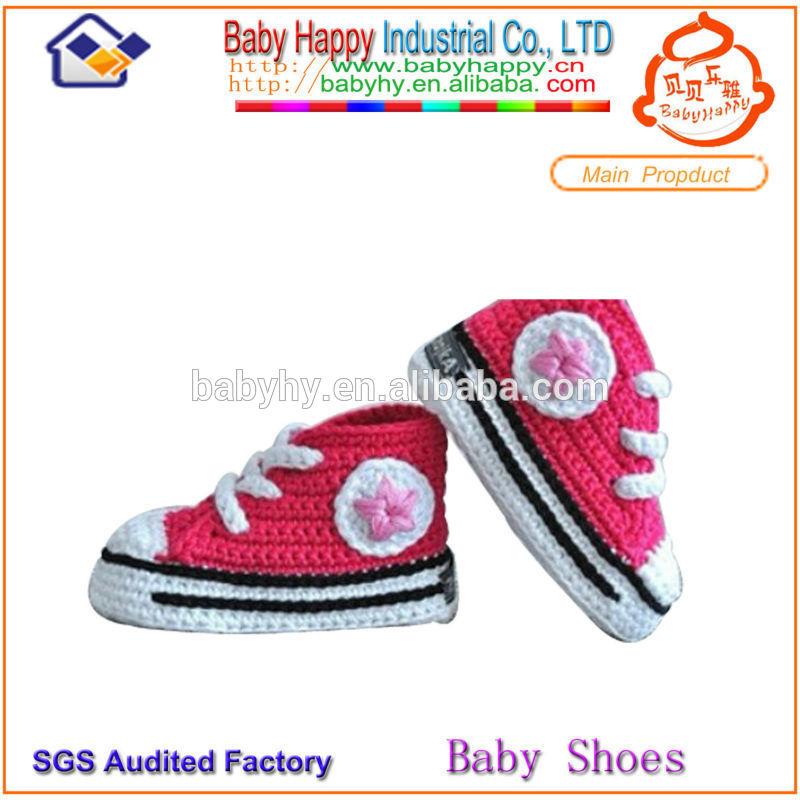 Moq 40 pares/4 mezcla tamaño de bebé ganchillo zapatos de las niñas ...