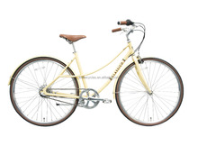 Enwe New Product 700c 6061 Aluminum Vintage Internal 3 Speed Urban Bicycle Classic City Bike for Ladies