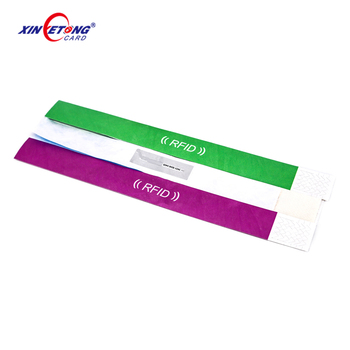 NFC disposable paper rfid wristband for concert & paper wristband
