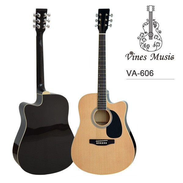 Best Western Cutaway laminated semi acoustic wooden guitar