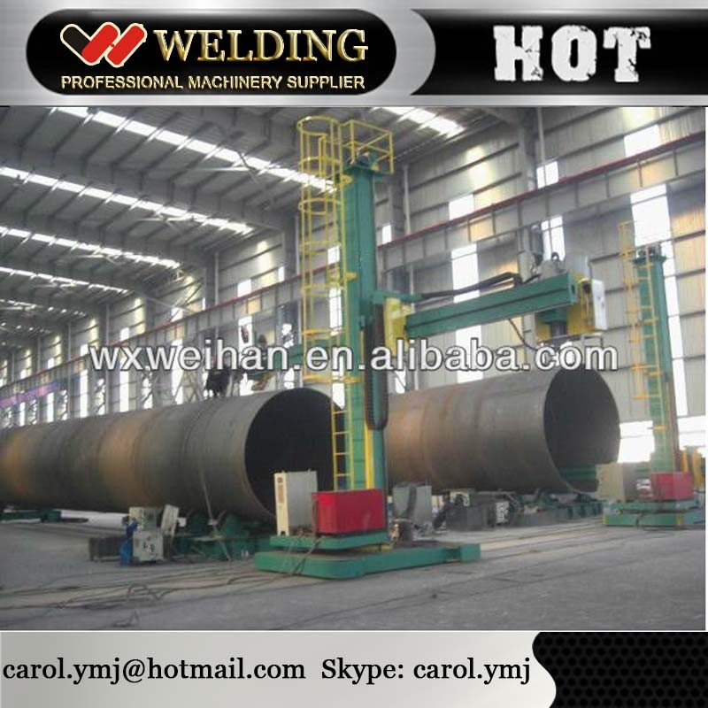 TIG & SAW welding column and boom In Welding Center for pipe assembly and fit up
