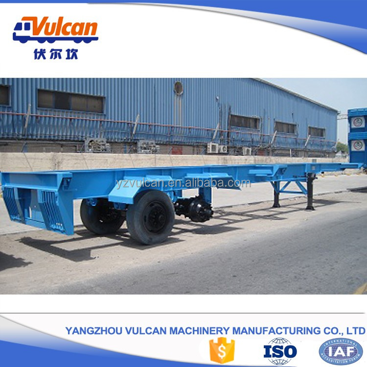 Chinese single axle four wheel flatbed semi trailer for sale