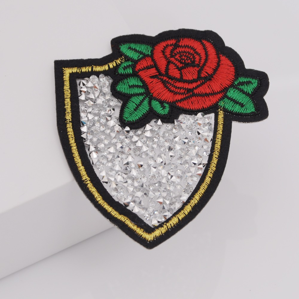 factory outlet sale 3d rhinestone embroidery patches