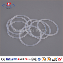 FDA approved Food grade silicone rubber transparent o ring