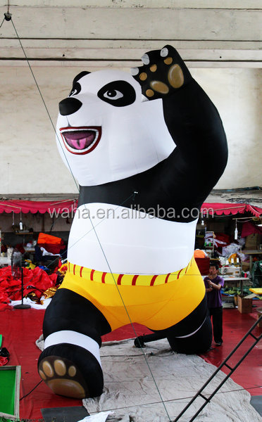 high quality decoration huge inflatable kungfu panda