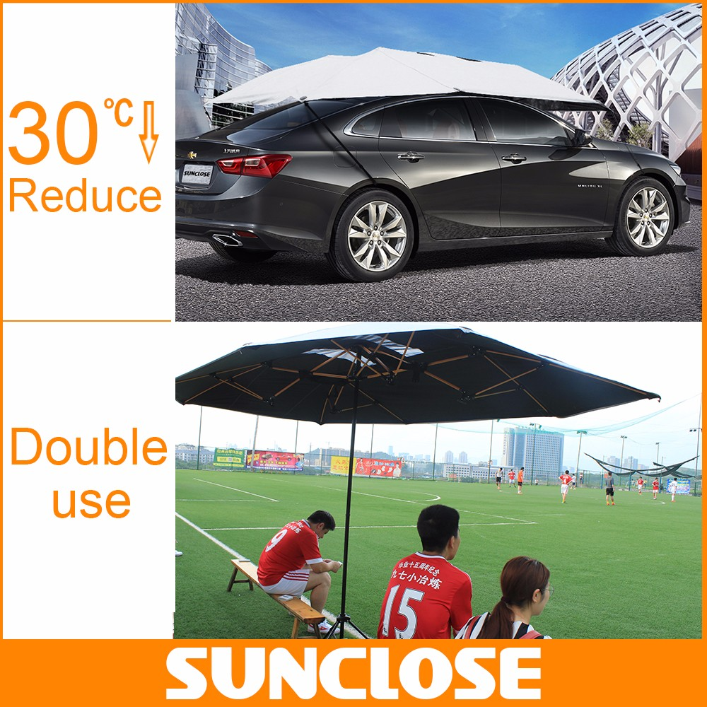 SUNCLOSE waterproof honeycomb panel plastic hail protection car covers military camouflage polyester car cover