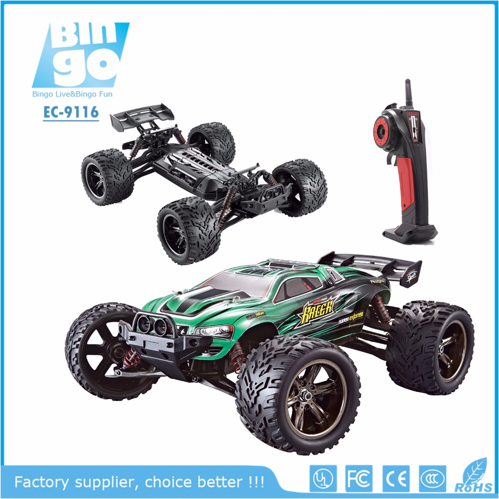 Bingo Amazon HOT 9116/S912 33MPH 1/12 Scale Electric Monster Hobby Truck With Waterproof Electronics, Remote Control Off