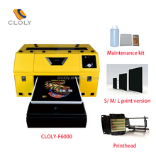 Factory stable performance A3 size with high resolution CLOLY-F6000 direct garment printer 3.5pl impresora textile machine