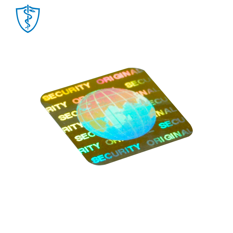 security holographic die cut sheet custom chrome <strong>logo</strong> sticker 3d hologram label