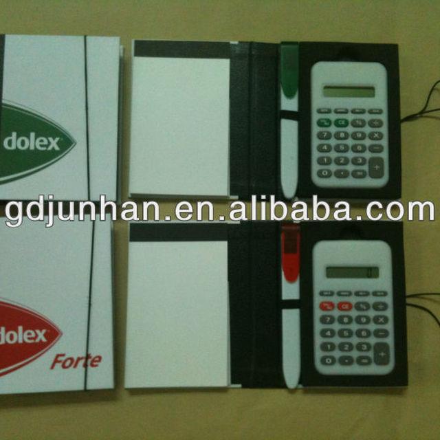 8 Digital Notepad Calculator With Notebook &ball Pen