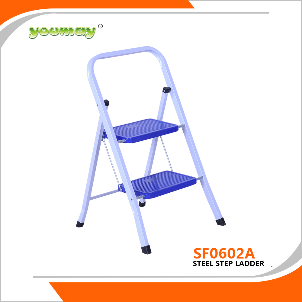 EN14183 Steel step ladder ,Stainess steel folding ladder Step stool SF0602A