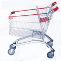 Custom chrome metal supermarket shopping cart