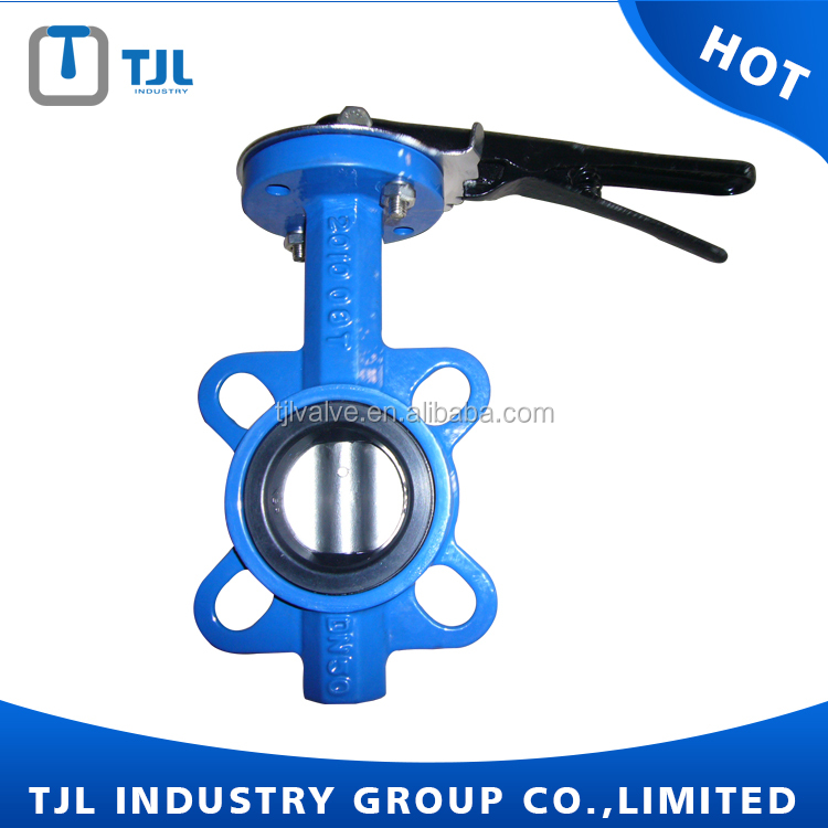 DIN/ansi wafer lug type 1 inch butterfly valve supplier with aluminum handlever