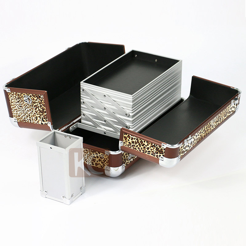 Fashion design high quality professional aluminum beauty box glitter make up box