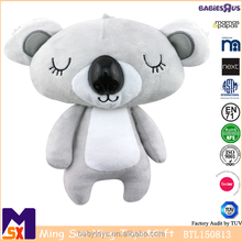 Custome made cartoon koala bear plush toy soft stuffed kawaii standing koala