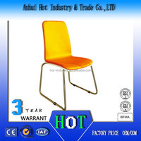 Bright Yellow Color School Dining Chair Factory Direct Plastic Chair Moulding Machine Price