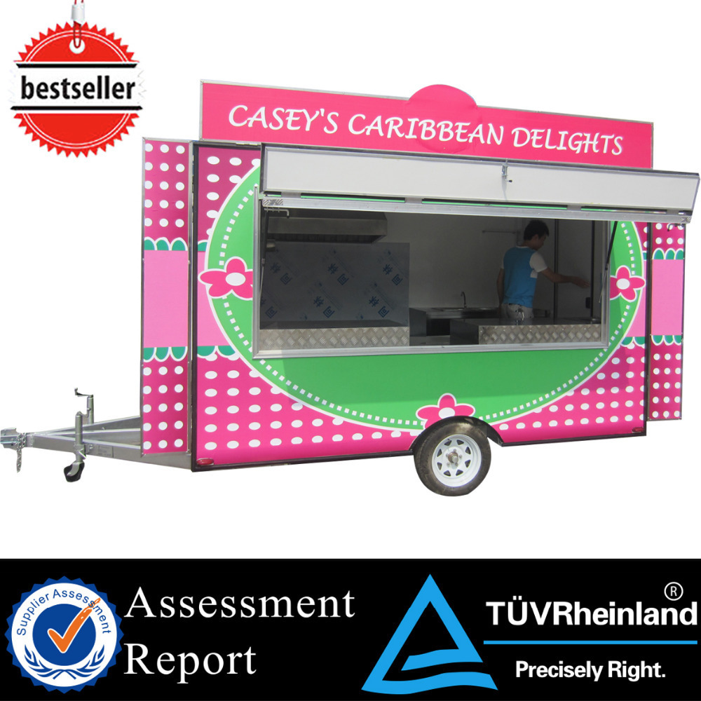 2015 HOT SALES BEST QUALITY show room food car standing food car food car with kitchen equipment .