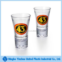 best selling products 2 oz good quality plastic PS shot glass wine glass