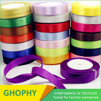 3mm-50mm 1/8 1/4 3/8 1/2 1 16 Inch Polyester Double Satin Ribbon