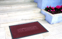 Non-slip recycled rubber needle punch door floor mat