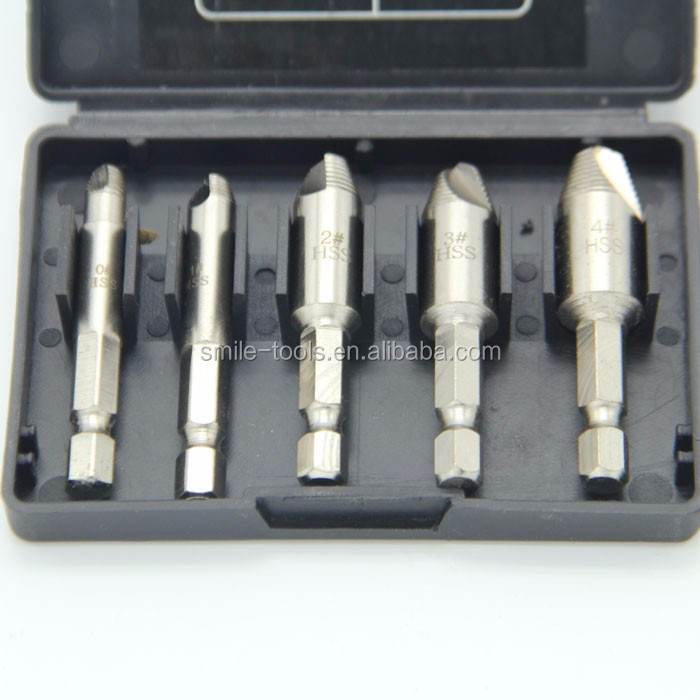4pc Double End Bolt And Damaged Screw Extractors