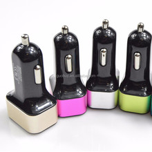 3-Port USB Car Charger 5.1 A Smart Car Charger with Charge Wise Technology for iOS, Android and Windows Smartphones and Tablets