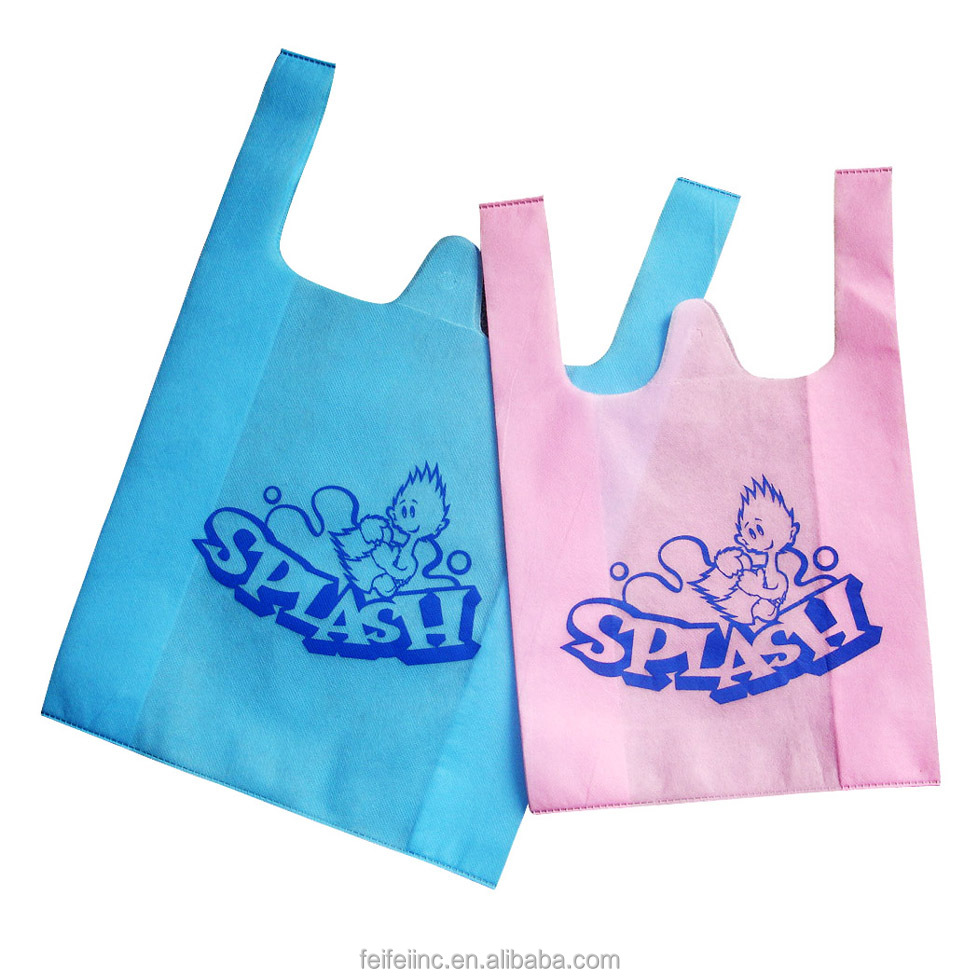 T-shirt Recycled non woven shopping Bag wholesale